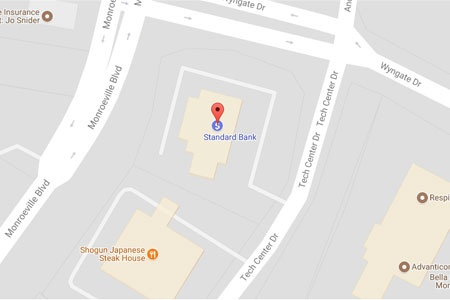 Standard Bank Monroeville map