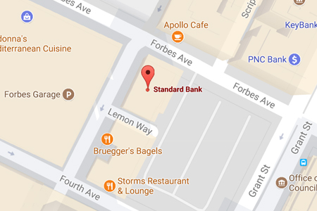Standard Bank Pittsburgh Map